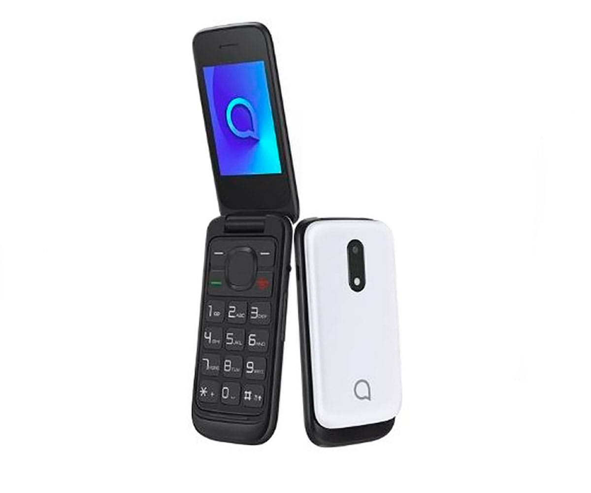 ALCATEL 2053D BLANCO MÓVIL SENIOR DUAL SIM 2.4 TFT BLUETOOTH CÁMARA CON FLASH LED RANURA MICROSD