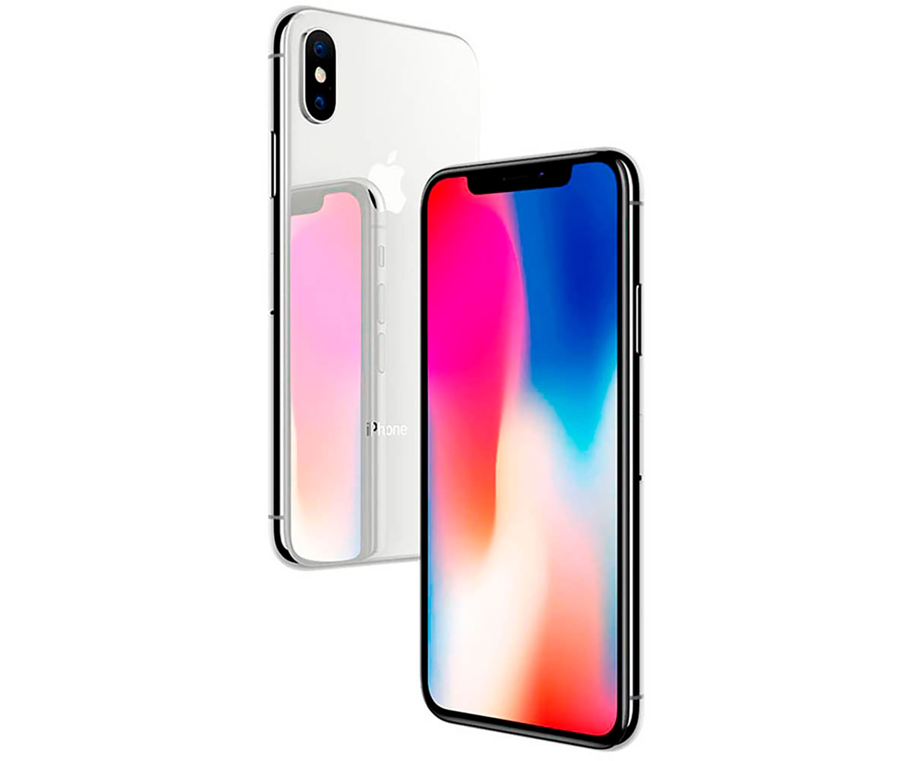 APPLE IPHONE X 256GB PLATA REACONDICIONADO CPO MÓVIL 4G 5.8'' SUPER RETINA OLED HDR/6CORE/256GB/3GB RAM/12MP+12MP/7MP