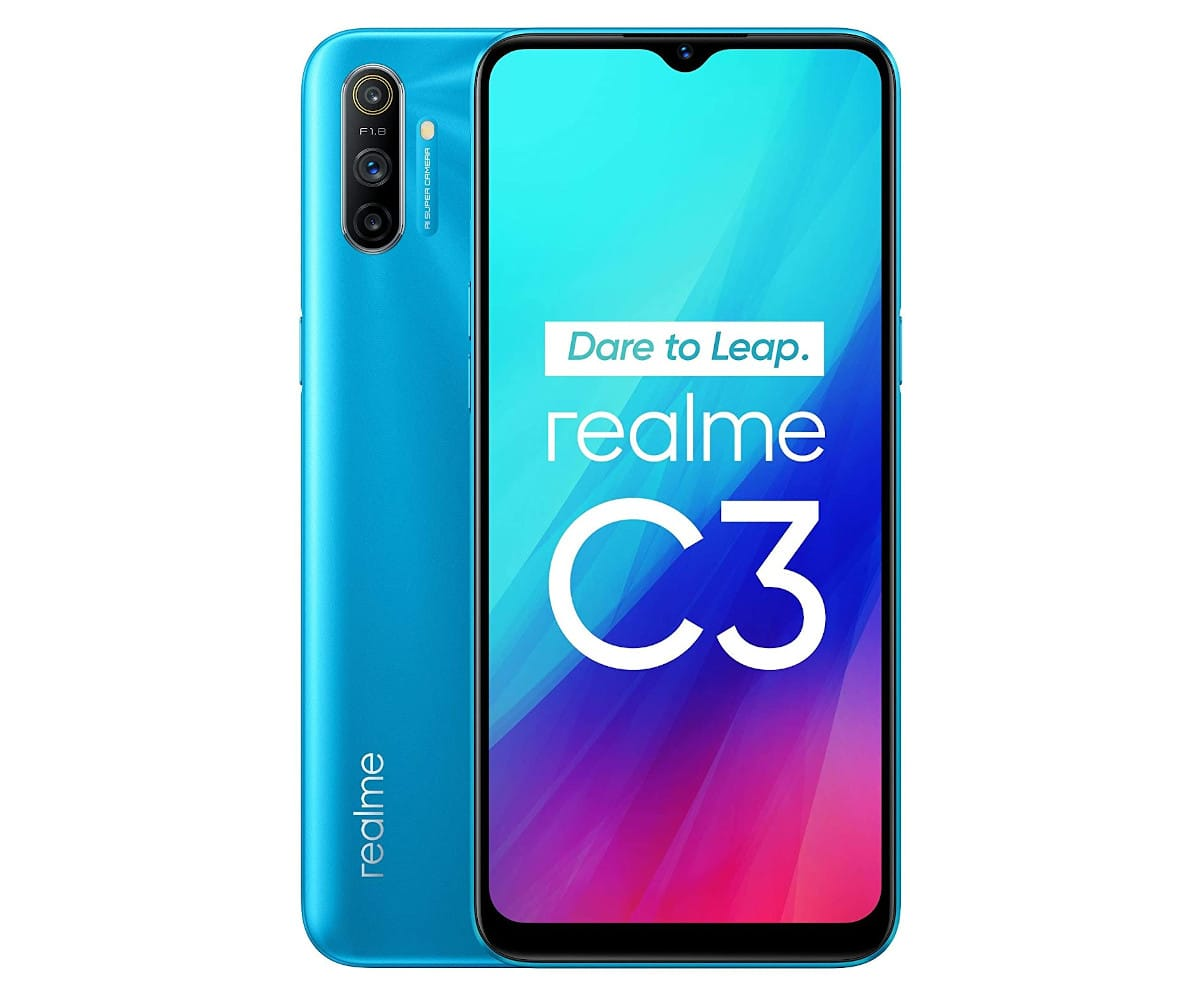 REALME C3 AZUL HIELO 4G DUAL SIM 6.5'' IPS HD+  OCTACORE 64GB 3GB RAM TRICAM 12MP SELFIES 5MP