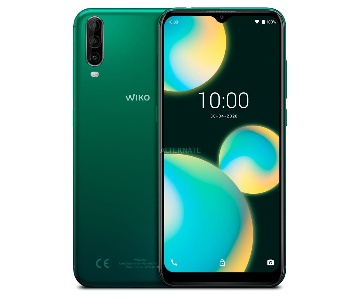 WIKO VIEW4 LITE VERDE MÓVIL 4G DUAL SIM 6.52'' HD+ OCTACORE 32GB 2GB RAM TRICAM 13MP SELFIES 5MP