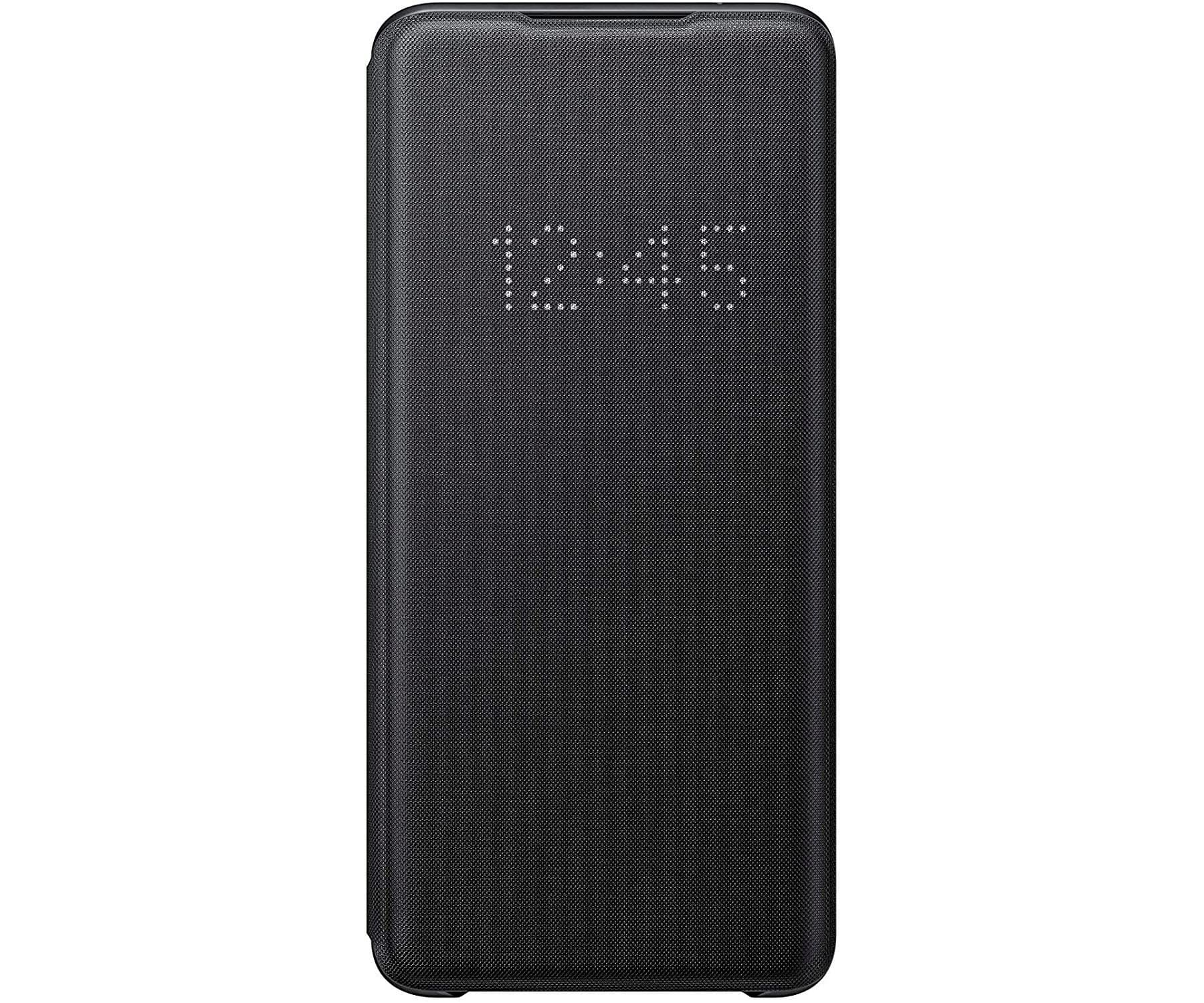SAMSUNG GALAXY S20 ULTRA LED VIEW COVER NEGRA FUNDA CON TAPA Y LED EN CUBIERTA