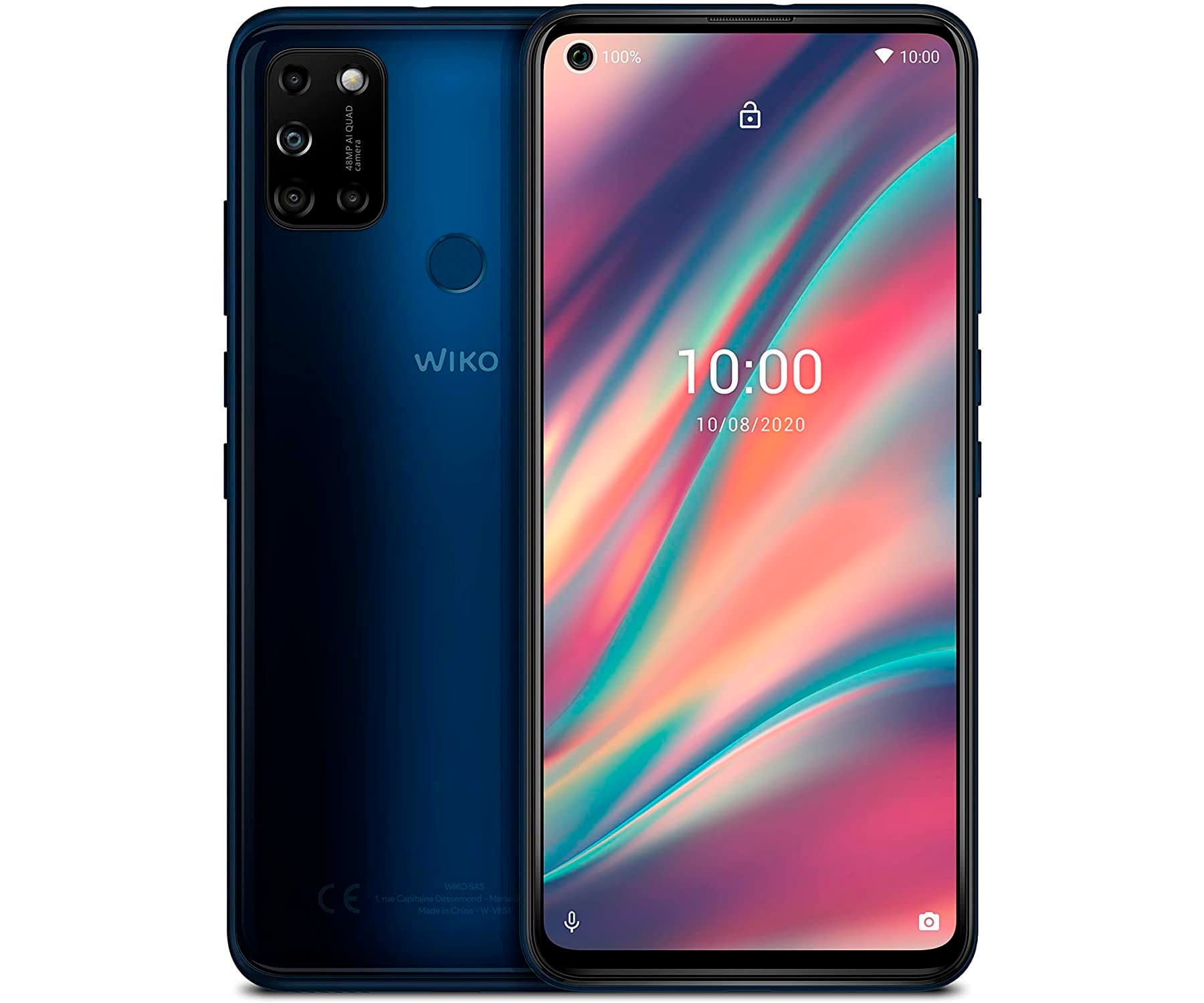 WIKO VIEW5 AZUL MÓVIL 4G DUAL SIM 6.55'' IPS HD+ OCTACORE 64GB 3GB RAM QUADCAM 48MP SELFIES 8MP