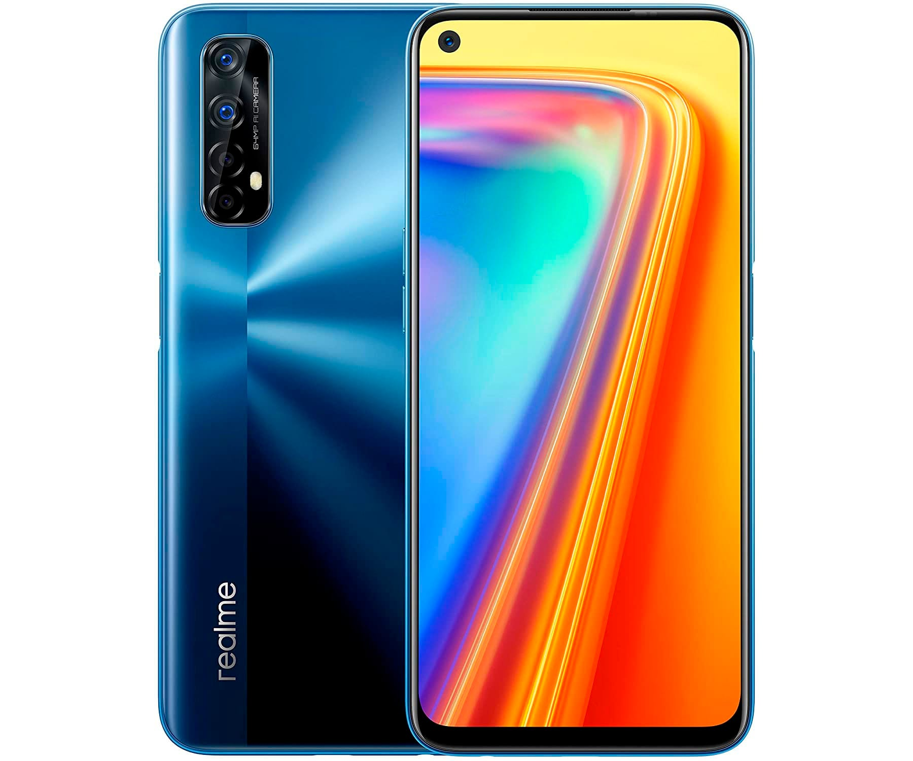 REALME 7 AZUL MÓVIL 4G DUAL SIM 6.5'' 90Hz FullHD+ OCTACORE 64GB 6GB RAM QUADCAM 48MP SELFIES 16MP
