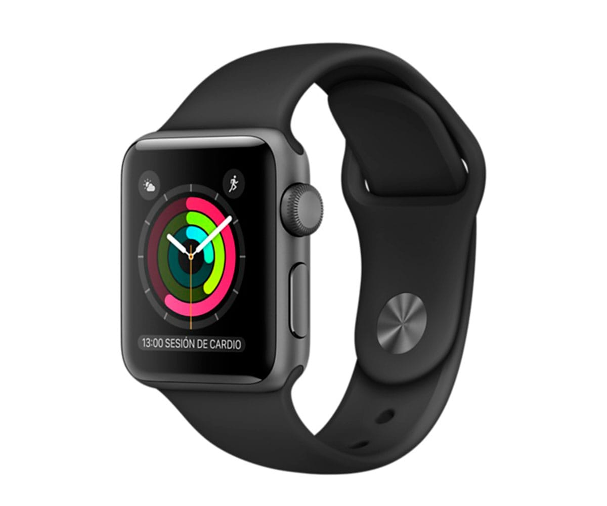 APPLE WATCH SERIES 2 38mm GRIS ESPACIAL/NEGRO MP0D2QL/A SMARTWATCH CON GPS RESISTENTE AL AGUA - MP0D2QL/A