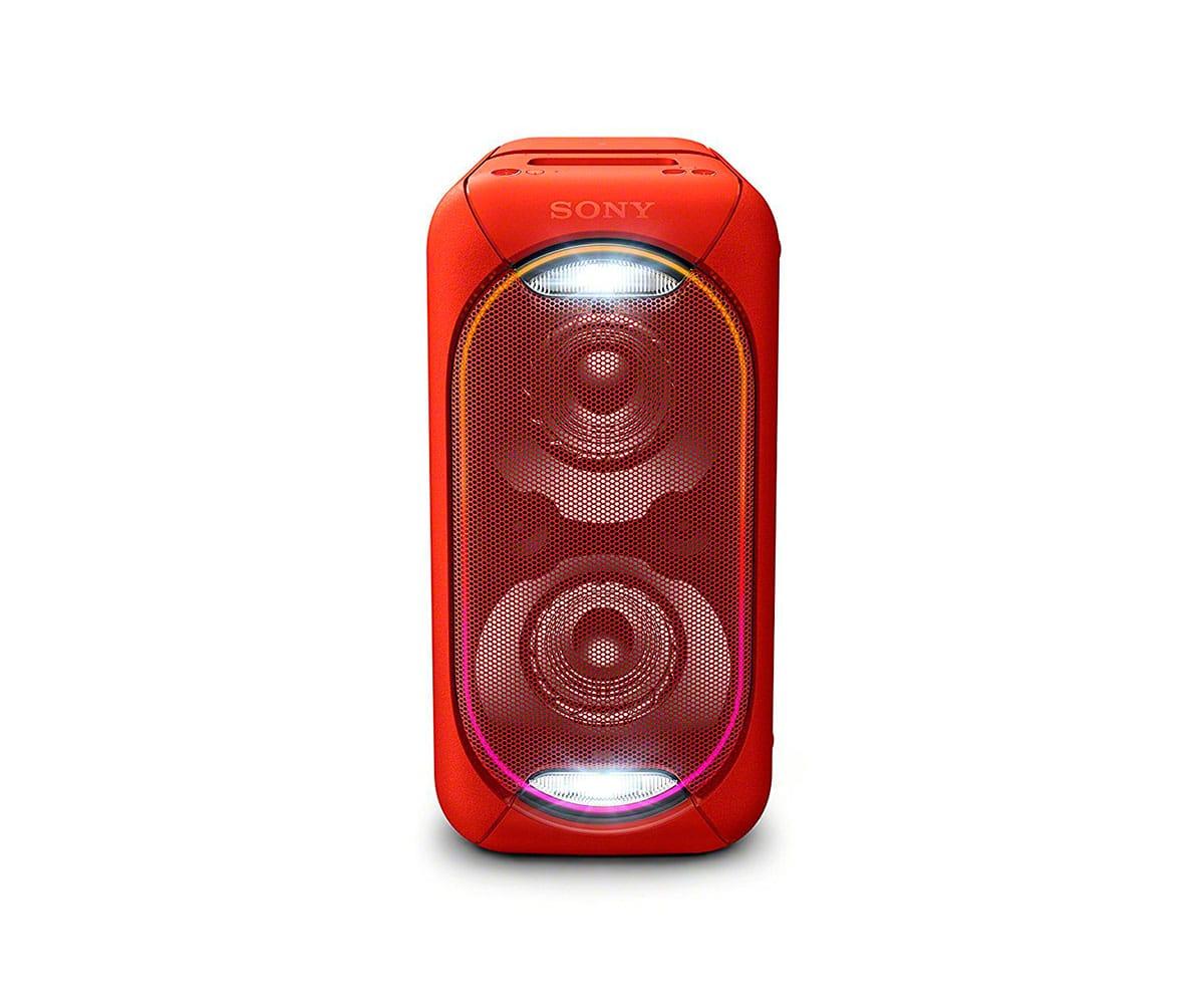 SONY GTK-XB60R ROJO SISTEMA DE AUDIO EN CASA PORTÁTIL DE GRAN POTENCIA CON LUCES LED, BLUETOOTH Y NF