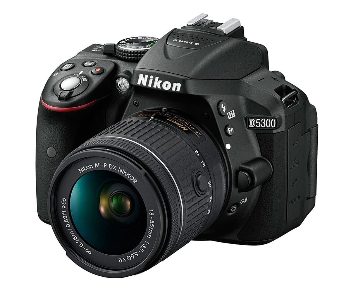 NIKON D5300 + AF-P DX NIKKOR 18-55mm VR CÁMARA REFLEX 24MP FULL HD WI-FI Y GPS - D5300 AFP 18/55VR IMP