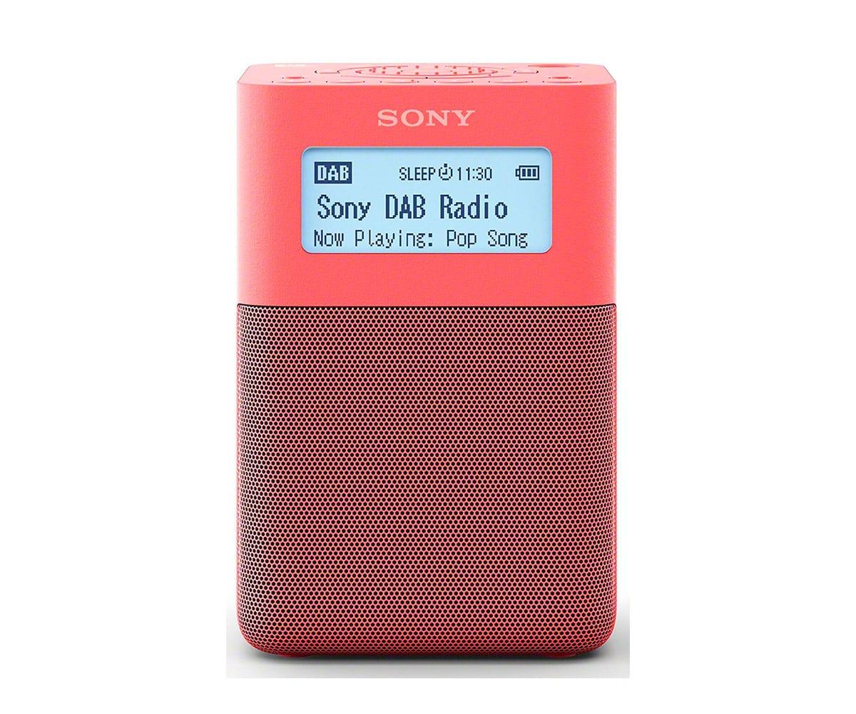 SONY XDR-V20D ROJO RADIO DAB/DAB+ PORTÁTIL CON ALTAVOCES INCORPORADOS Y BATERÍA RECARGABLE - Sintonizador de radio digital DAB/DAB+/FM SONY XDR-V20D con diseño ligero y portátil en color rojo, 5 botones para presintonías DAB y FM, temporizador de apagado, altavoz integrado, entrada de auriculares, batería recargable integrada, alta calidad.