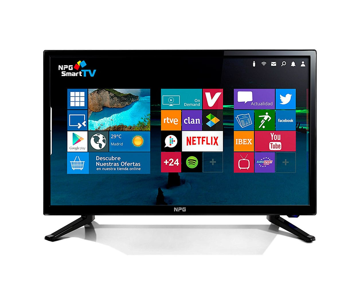 NPG TVS411L22F TELEVISOR 22 LCD LED FULL HD SMART TV ANDROID WIFI HDMI USB GRABADOR Y REPRODUCTOR  - TVS411L22F