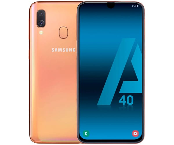 SAMSUNG GALAXY A40 NARANJA MÓVIL 4G DUAL SIM 5.9'' SUPER AMOLED FHD+/8CORE/64GB/4GB RAM/16MP+5MP/25MP