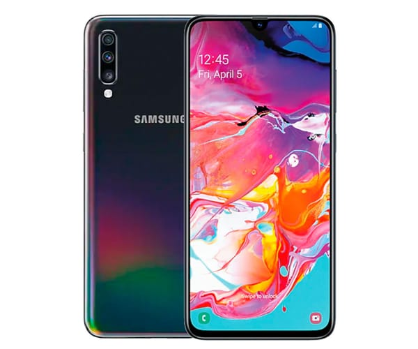 SAMSUNG GALAXY A70 NEGRO MÓVIL 4G DUAL SIM 6.7'' SUPER AMOLED FHD+/8CORE/128GB/6GB RAM/32MP+5MP+8MP/32MP