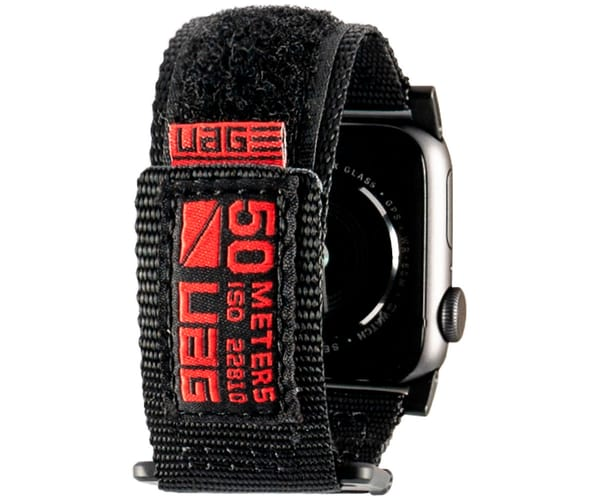 UAG ACTIVE BAND NEGRA CORREA PARA APPLE SMARTWATCH SERIE 1 A 4 TAMAÑO 40/38