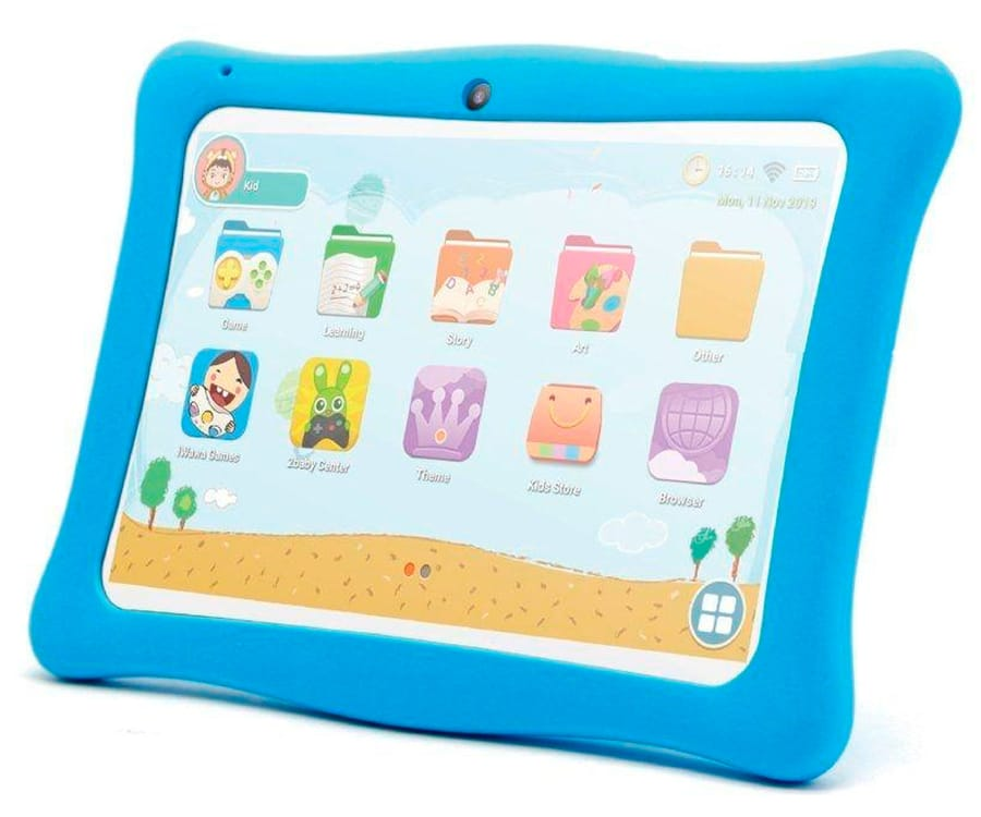 INNJOO KIDS TAB BLANCA TABLET WIFI 10'' IPS PROTECTOR AZUL TFT QUADCORE 16GB 1GB RAM CAM 2MP SELFIES 0.3MP