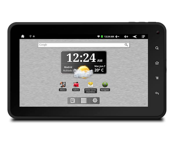 BQ PASCAL HD NEGRO TABLET WIFI 7'' LCD/4CORE/8GB/512MB RAM/VGA