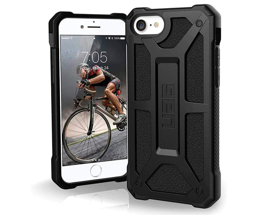 UAG MONARCH NEGRO CARCASA IPHONE SE 2020 RESISTENTE