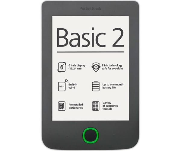 POCKETBOOK BASIC 2 PB614 LIBRO ELECTRÓNICO 6'' E INK PEARL 4 GB GRIS