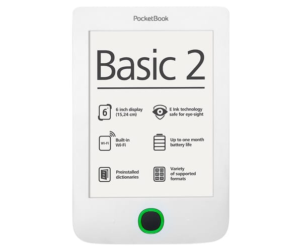 POCKETBOOK BASIC 2 PB614 LIBRO ELECTRÓNICO 6'' E INK PEARL 4 GB BLANCO