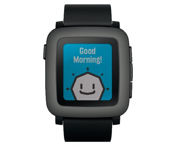 PEBBLE TIME SMARTWATCH COMPATIBLE CON ANDROID Y IPHONE NEGRO