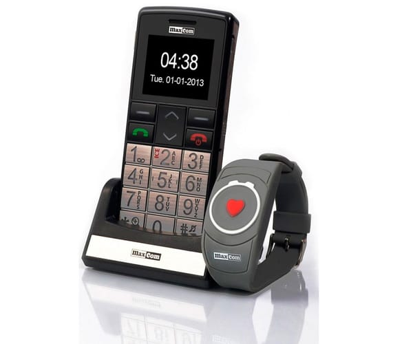 MAXCOM MM715BB MÓVIL SENIOR CON PULSERA SOS