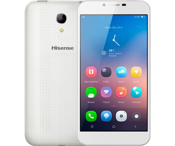 HISENSE D2 BLANCO MÓVIL 4G DUAL SIM 5''/4CORE/8GB/1GB RAM/8MP/5MP