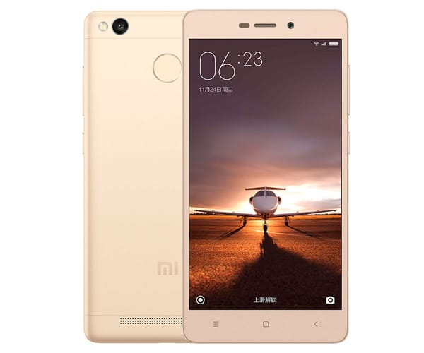 XIAOMI REDMI 3S (32+3) DORADO MÓVIL 4G DUAL SIM 5'' IPS/8CORE/32GB/3GB RAM/13MP/5MP