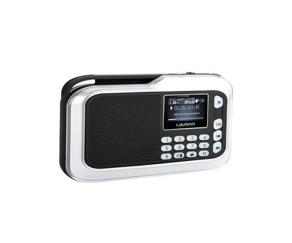 LAUSON RD115 RADIO DIGITAL 3W CON REPRODUCTOR MP3 Y WMA
