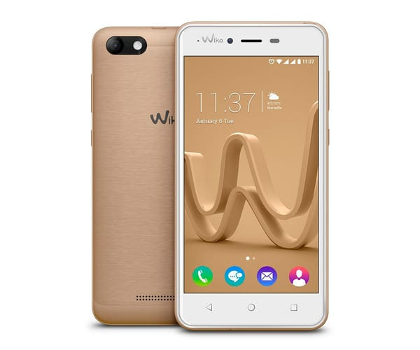 WIKO JERRY MAX DORADO MÓVIL 3G DUAL SIM 5'' IPS/4CORE/16GB/GB RAM/5MP/2MP