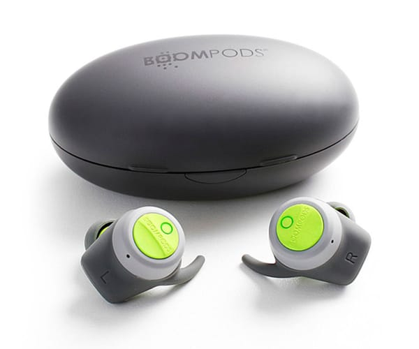 BOOMBUDS TRUE WIRELESS EARPHONES AURICULARES INALÁMBRICOS BLUETOOTH 5 GRIS/VERDE