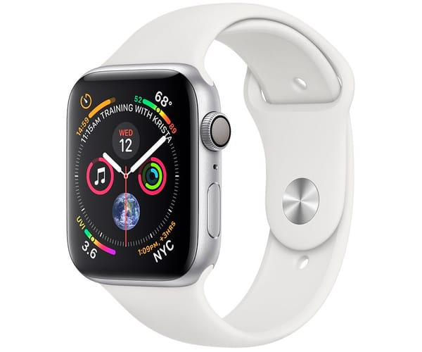 APPLE WATCH SERIES 4 PLATA CON CORREA BLANCA RELOJ 44MM SMARTWATCH 16GB WIFI BLUETOOTH GPS PANTALLA OLED