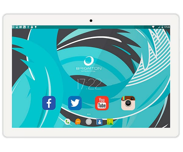 BRIGMTON BTPC1024 BLANCO TABLET WIFI 10.1'' IPS/4CORE/16GB/2GB RAM/2MP