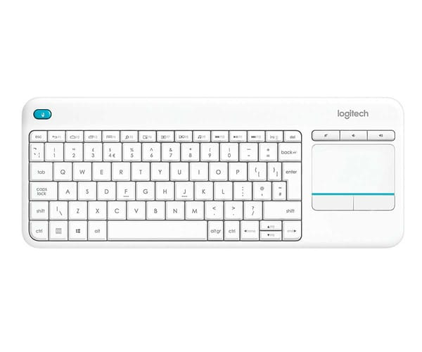 LOGITECH K400 PLUS BLANCO TECLADO INALÁMBRICO CON TOUCHPAD PARA TV Y PC