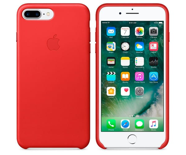 APPLE MMYK2ZM/A ROJO CARCASA DE CUERO IPHONE 7 PLUS