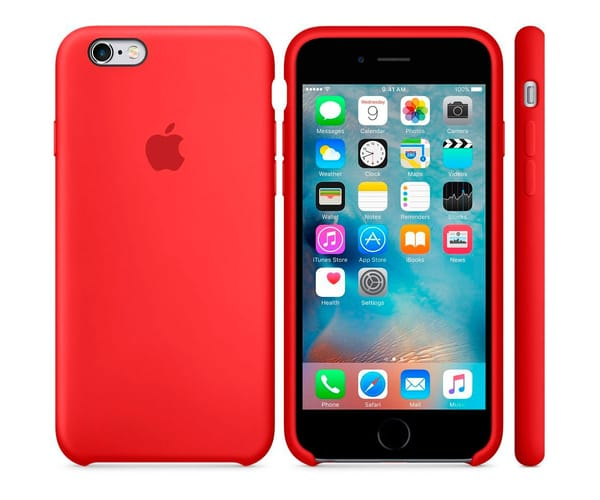 APPLE MKY32ZM/A ROJO CARCASA DE SILICONA IPHONE 6S/6