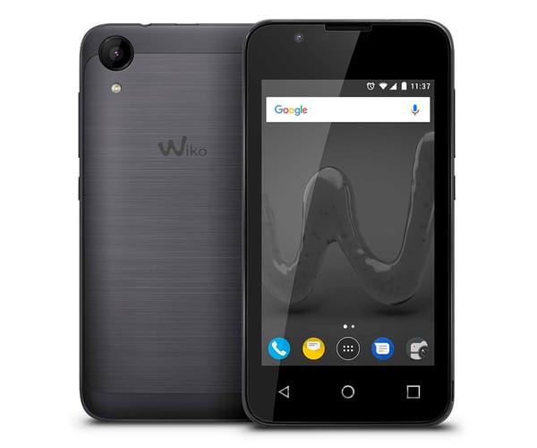 WIKO SUNNY2 GRIS MÓVIL DUAL SIM 3G 4''/4CORE/8GB/512MB RAM/5MP/2MP