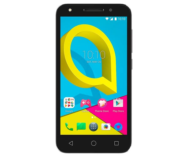 ALCATEL U5 GRIS MÓVIL 4G DUAL SIM 5'' IPS/4CORE/16GB/1GB RAM/5MP/2MP