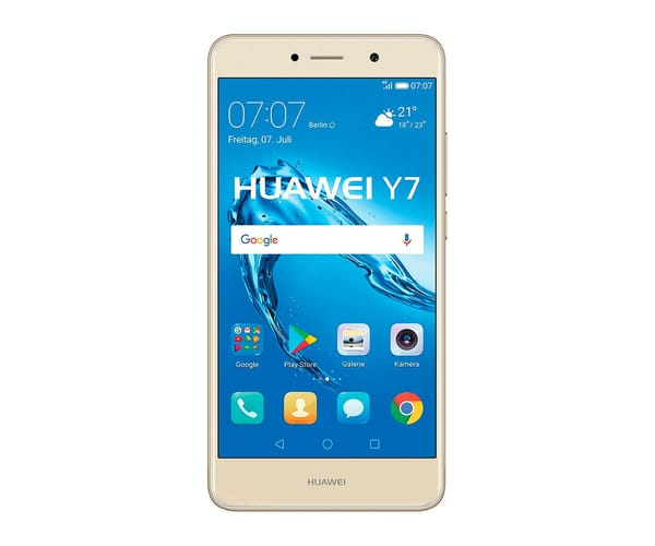 HUAWEI Y7 DORADO MÓVIL 4G DUAL SIM 5.5'' IPS HD/8CORE/16GB/2GB RAM/12MP/8MP
