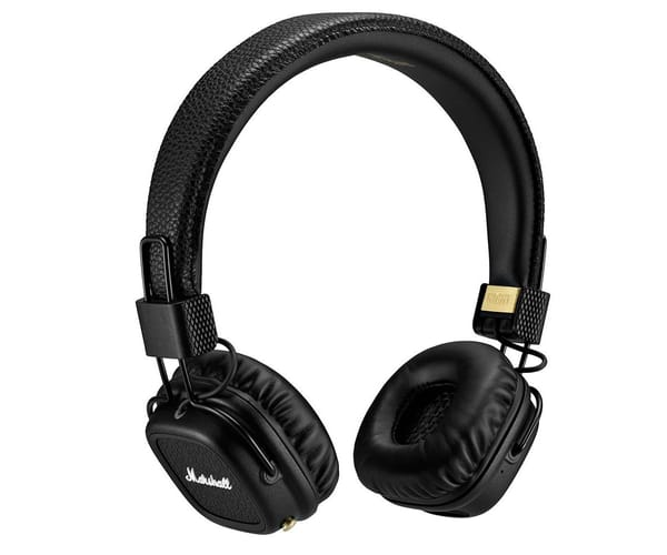 MARSHALL MAJOR II BLUETOOTH NEGRO AURICULARES INALÁMBRICOS PARA ANDROID