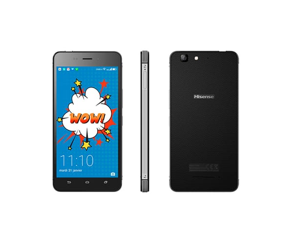 HISENSE C30 ROCK LITE GRIS MÓVIL 4G DUAL SIM 5'' IPS FHD/4CORE/16GB/2GB RAM/8MP/5MP