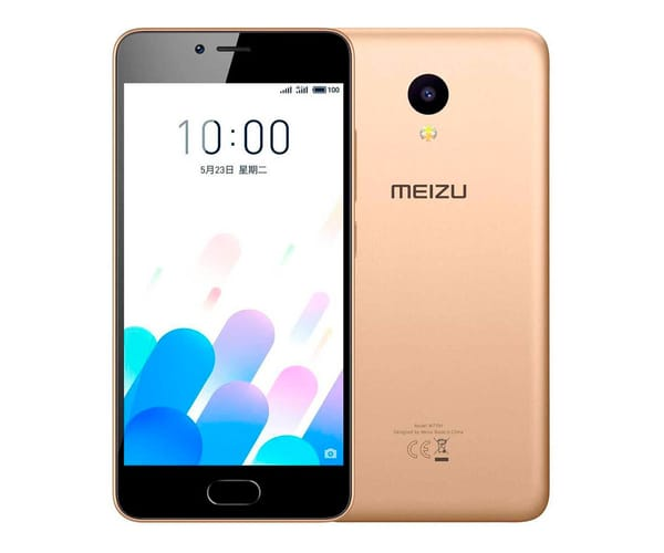 MEIZU M5C DORADO MÓVIL 4G DUAL SIM 5'' IPS HD/4CORE/16GB/2GB RAM/8MP/5MP
