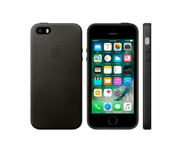 APPLE MMHH2ZM/A NEGRO CARCASA DE PIEL APPLE IPHONE SE