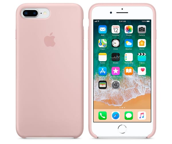 APPLE MQH22ZM/A ROSA ARENA CARCASA DE SILICONA IPHONE 8 PLUS
