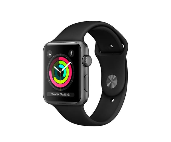 APPLE WATCH SERIES 3 GRIS ESPACIAL 42mm SMARTWATCH CON GPS WIFI BLUETOOTH ASISTENTE VIRTUAL SIRI Y RESISTENTE AL AGUA
