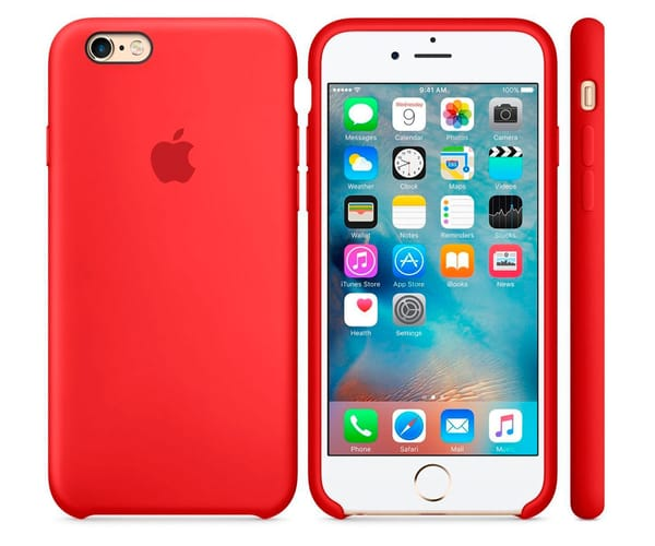 APPLE MKXM2ZM/A ROJO CARCASA DE SILICONA IPHONE 6 PLUS/ 6S PLUS