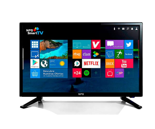 NPG TVS411L19H TELEVISOR 19'' LCD LED HD SMART TV ANDROID WIFI HDMI USB GRABADOR Y REPRODUCTOR MULTIMEDIA