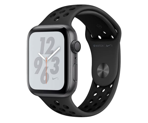 APPLE WATCH SERIES 4 NIKE+ GRIS ESPACIAL CON CORREA SPORT ANTRACITA/NEGRO RELOJ 44MM SMARTWATCH 16GB WIFI BLUETOOTH GPS PANTALLA OLED
