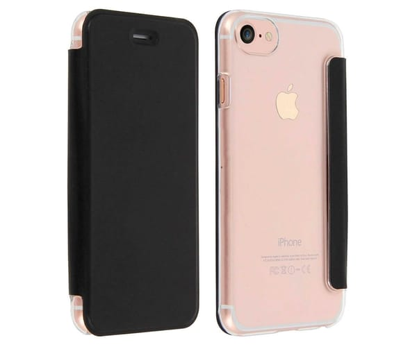 AKASHI FUNDA FOLIO TRANSPARENTE NEGRO APPLE IPHONE 7/8