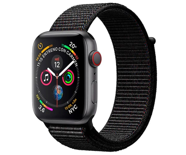 APPLE WATCH SERIES 4 CELL GRIS ESPACIAL CON CORREA LOOP NEGRA RELOJ 40MM SMARTWATCH 16GB WIFI BLUETOOTH GPS PANTALLA OLED
