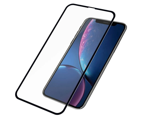 PANZERGLASS PROTECTOR DE CRISTAL APPLE IPHONE XR NEGRO EDGE TO EDGE BORDES CURVOS