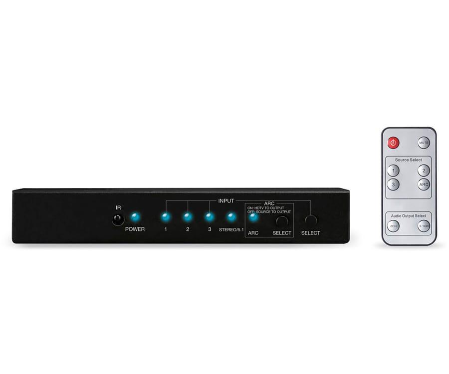 FONESTAR FO-14SW31 SELECTOR HDMI 3 ENTRADAS 1 SALIDA 4K AUDIO SIMULTANEO ARC