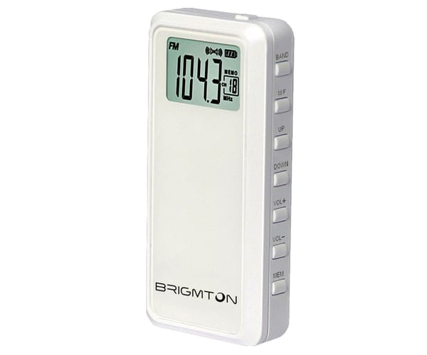 BRIGMTON BT-123-B BLANCO RADIO AM/FM DIGITAL PORTÁTIL A PILAS