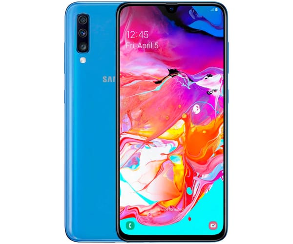 SAMSUNG GALAXY A70 AZUL MÓVIL 4G DUAL SIM 6.7'' SUPER AMOLED FHD+/8CORE/128GB/6GB RAM/32MP+5MP+8MP/32MP